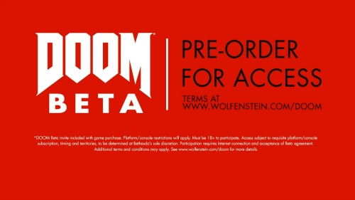 Doom BETA Pre-Order For Access