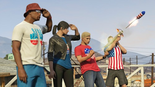 Grand Theft Auto Online Celebrates The Fourth Of July