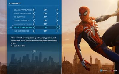 Disability Game Review – Marvel's Spider-Man