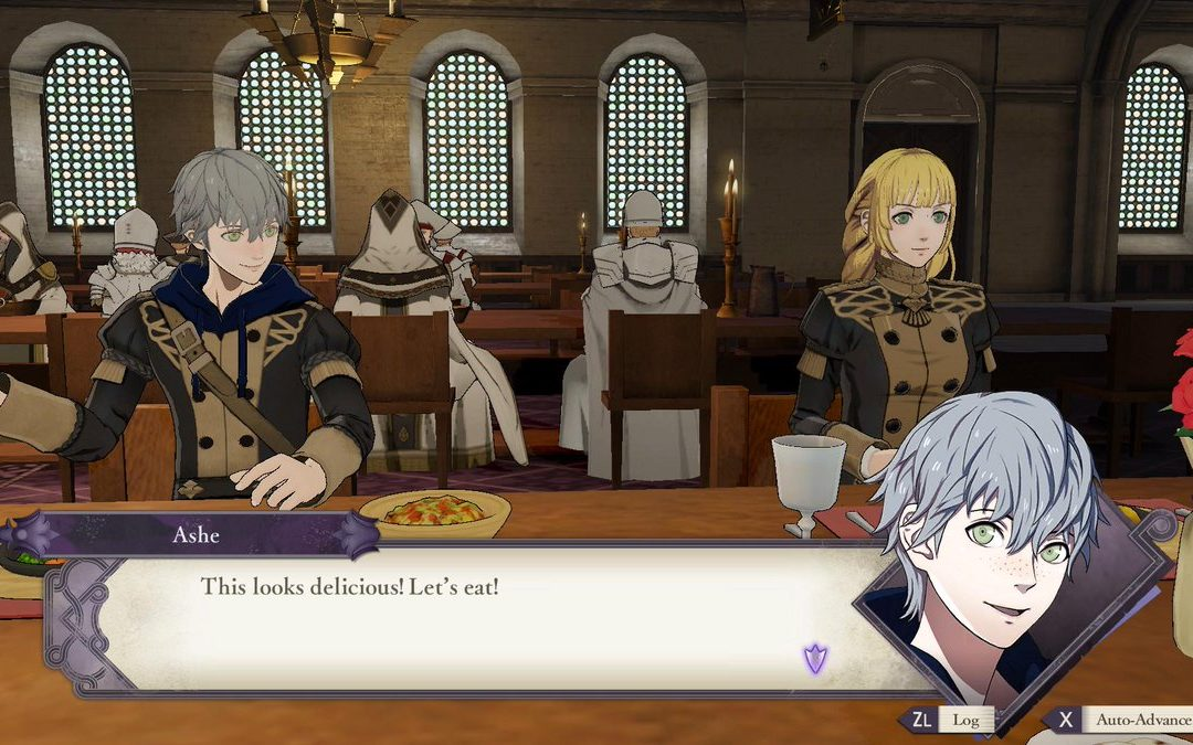 Fire Emblem: Three Houses Screenshot of dialogue